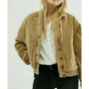 Free People Main Squeeze Quilted Jacket XS Tan